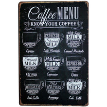 Load image into Gallery viewer, Coffee Vintage Wall Plaques