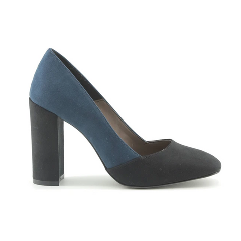 Made In Italia Chunky Navy and Black Pumps