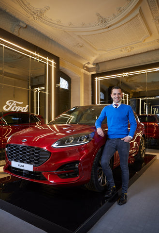Manuel Espejo with the Ford Kuga in Casa Decor