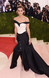 Emma Watson wearing a design by Calvin Klein made from recycled plastic bottles-jpg