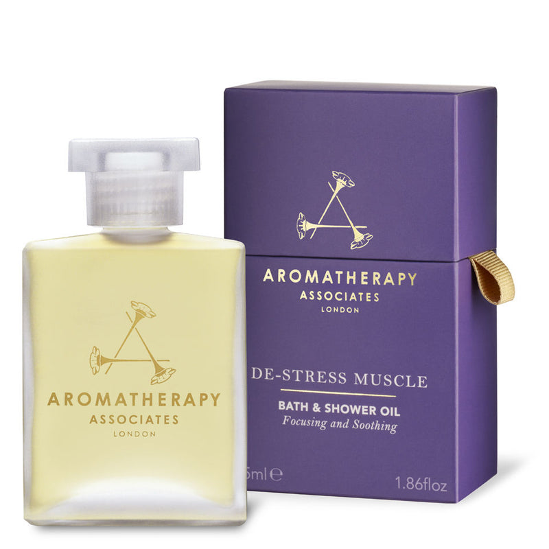 De-Stress Muscle Bath & Shower Oil - Aromatherapy Associates - Beauty Junkies Store