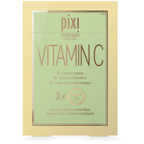 Pixi - Vitamin C Energizing Infusion - 3 Sheet Mask - Beauty Junkies Store