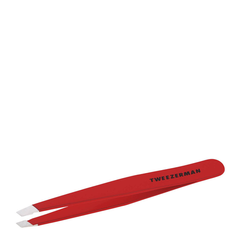 Slant Pincet Signature Red - Tweezerman - Beauty Junkies Store