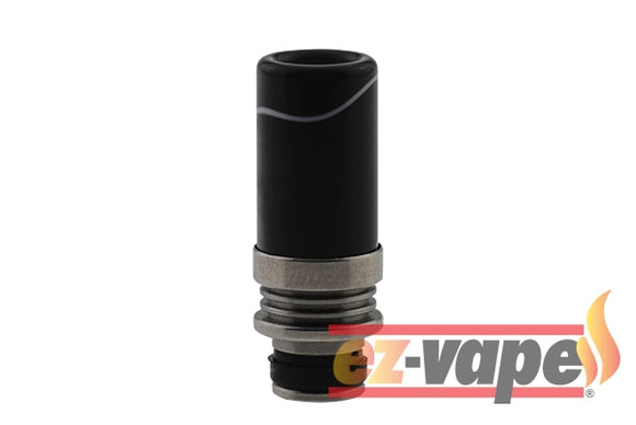 510 Glass Drip Tips Black Tip