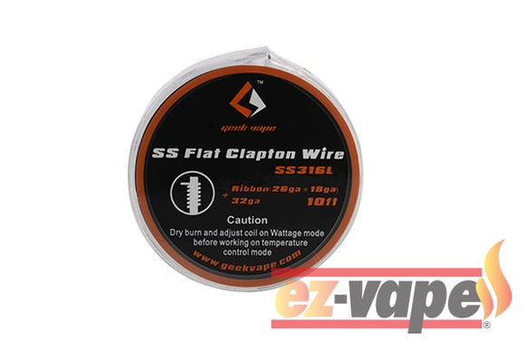 Stainless Flat Clapton Wire 10Ft