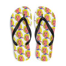 Load image into Gallery viewer, #BlondeBombshell Flip-Flops