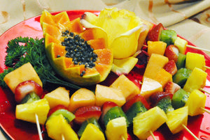 Fresh Fruit Kabobs,  47.00