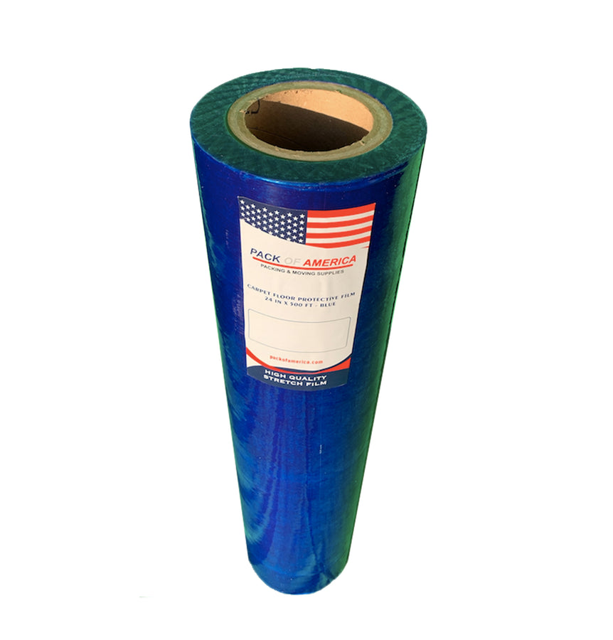 Carpet Floor Protective Film | Durable Thick Removable Self-Adhesive Plastic Tape Roll | Protector for Carpeting, Hard-Floor, Mats, Hard Surface, Flooring Protection