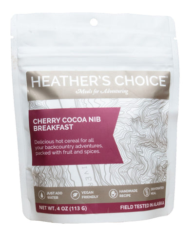 Heather's Choice Hot Cereal Breakfast - Cherry Cocoa Nib - 1 Shot Gear