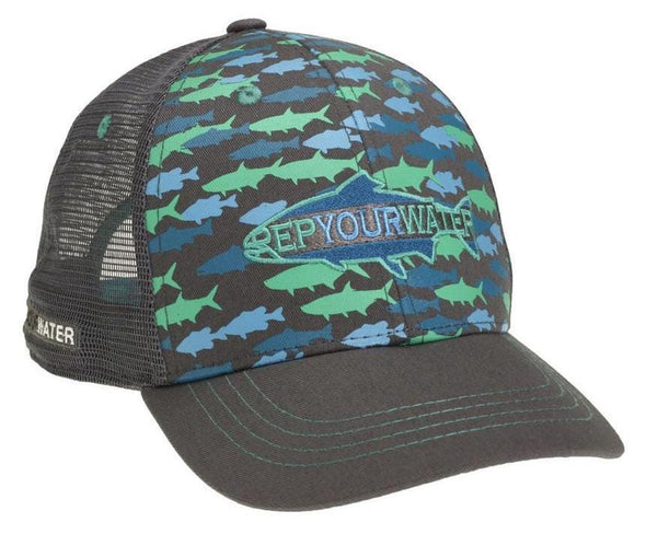RepYourWater Fish Camo hat - 1 Shot Gear