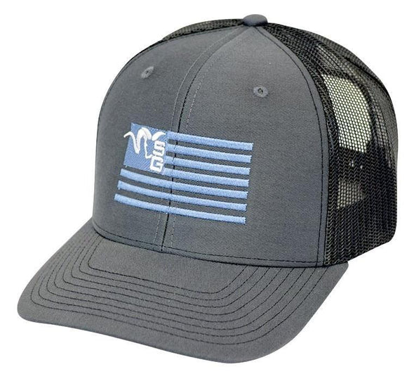Stone Glacier Ram Flag Trucker Hat - 1 Shot Gear