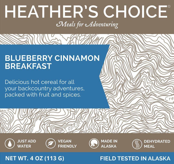 Heather's Choice Hot Cereal Breakfast - Blueberry Cinnamon - 1 Shot Gear