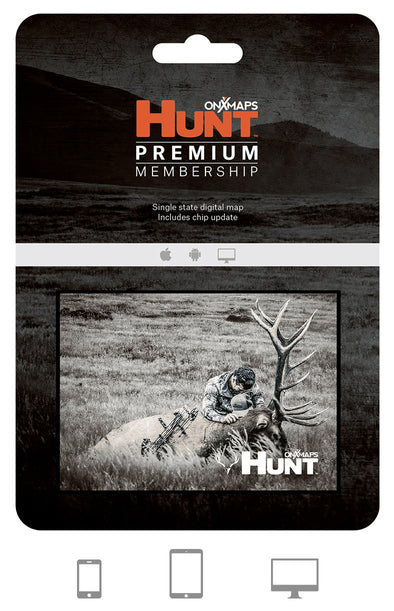 onX Hunt Premium Single State Digital Map Membership - 1 Shot Gear