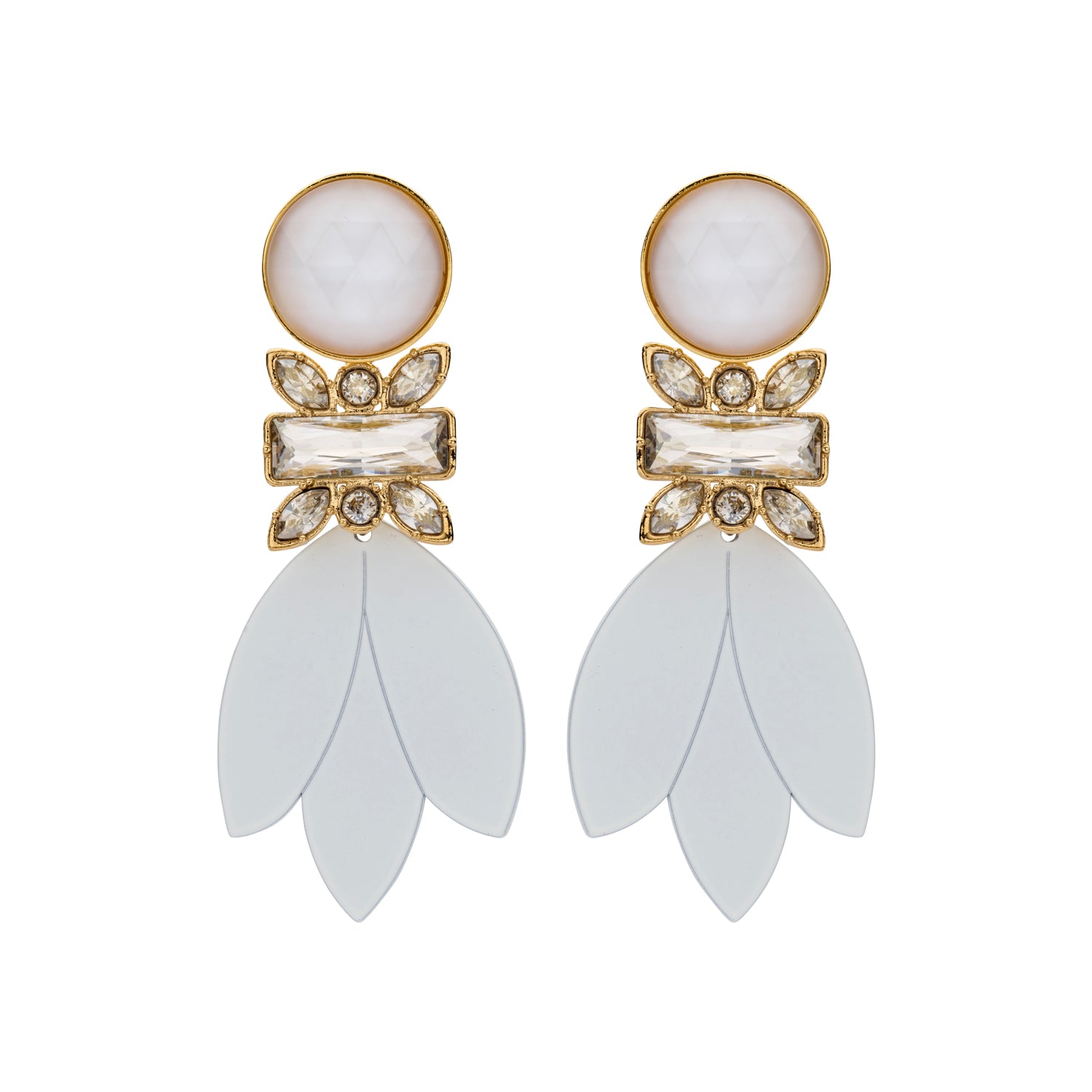 Pomme bridal statement earrings
