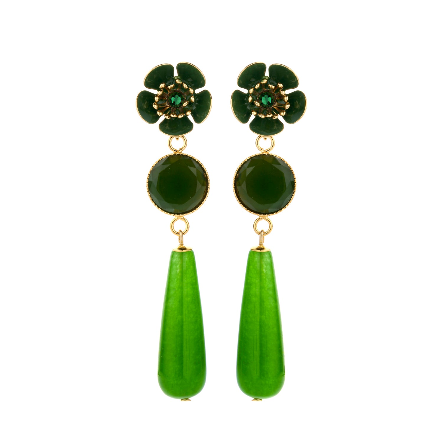 Gina statement earring green