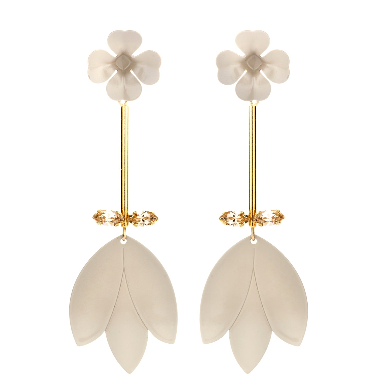 Simonne Statement earring beige