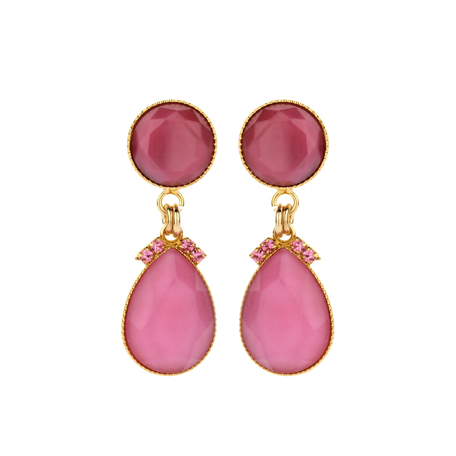 2 drops earring mini fuchsia