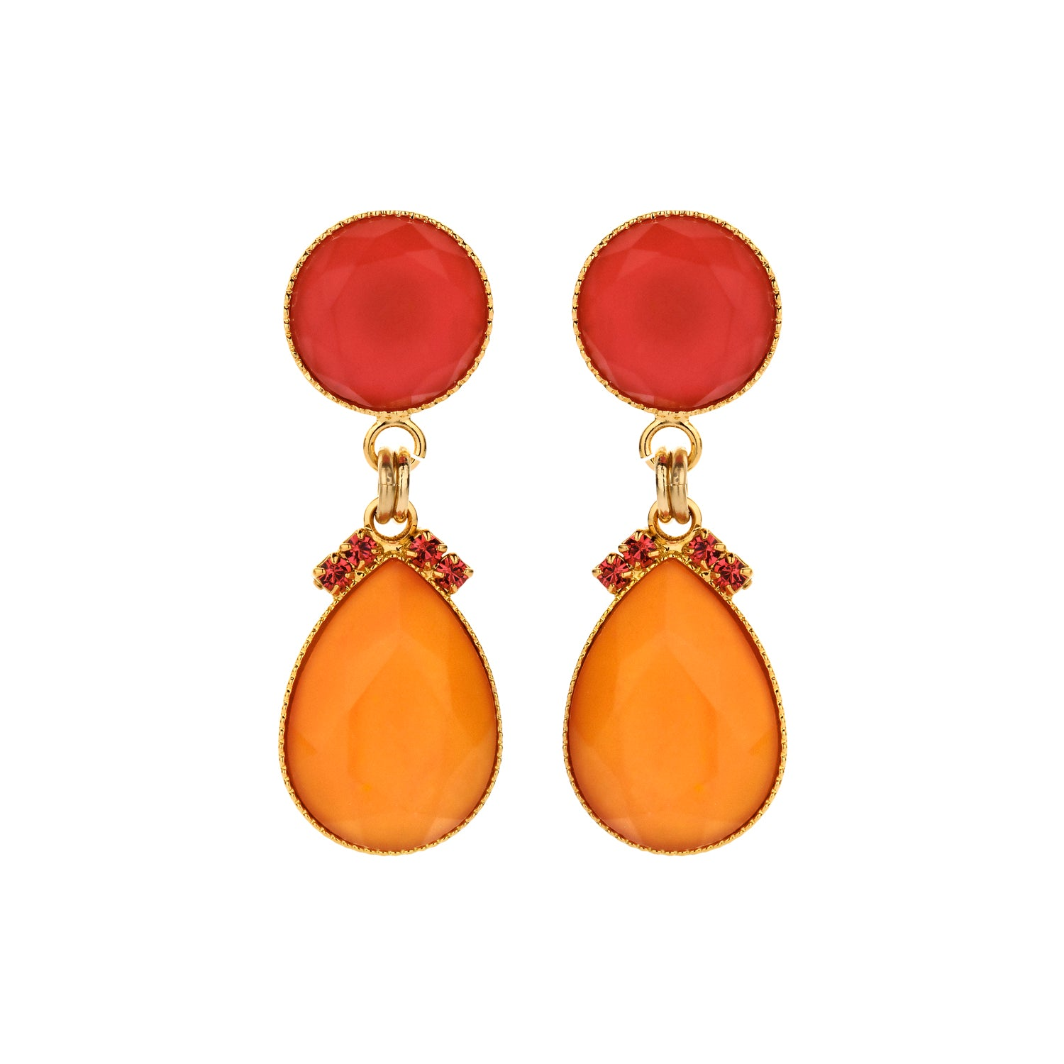 2 drops earring mini orange