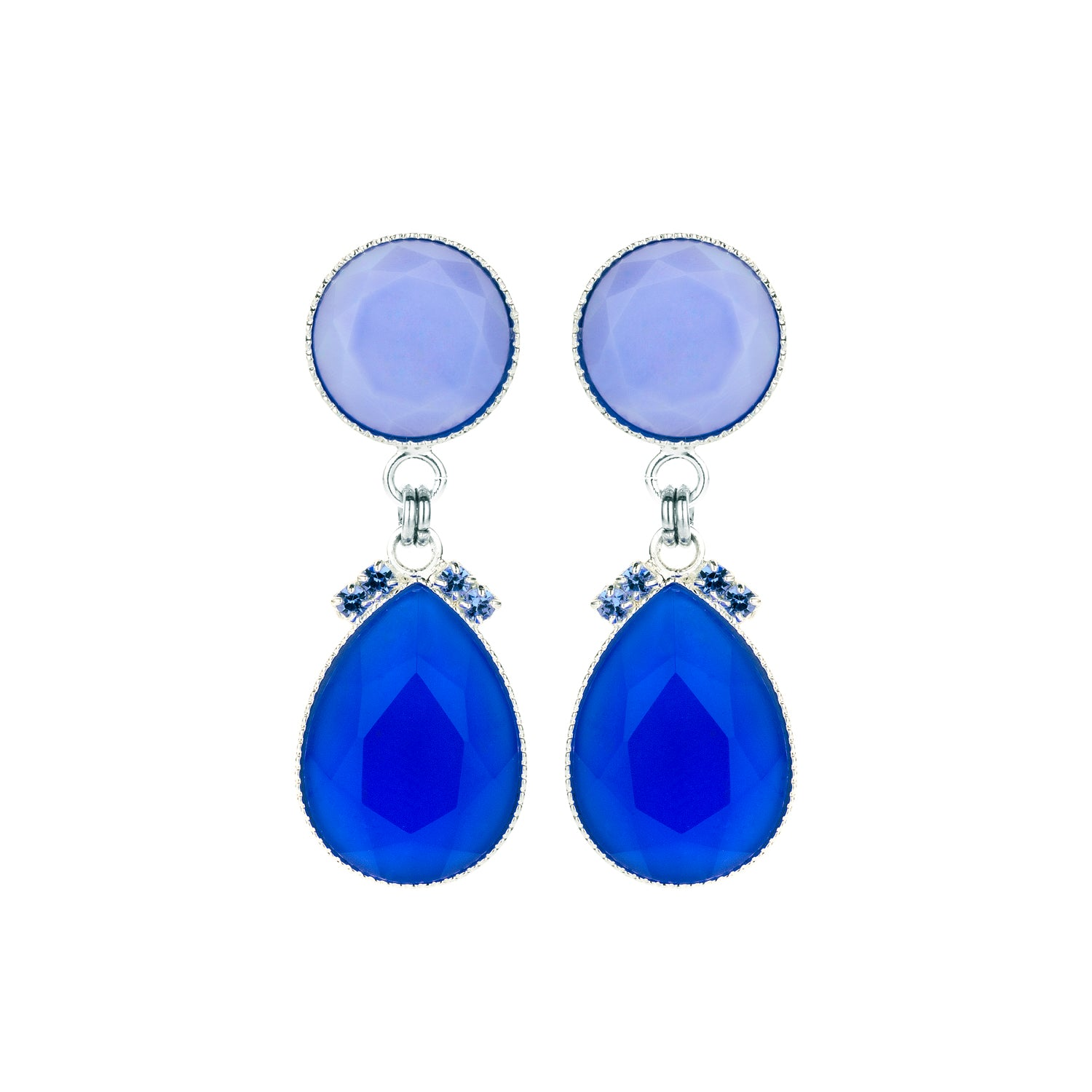 2 drops earring mini blue