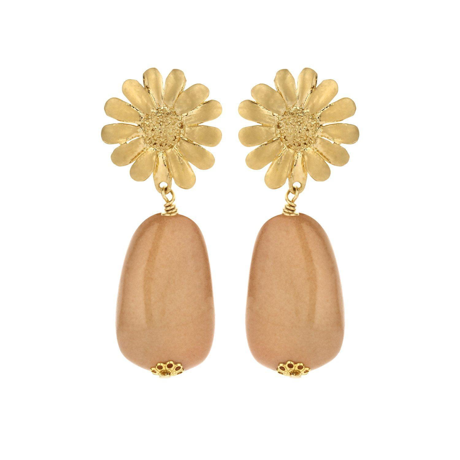 Sunbeam short statement earring nude