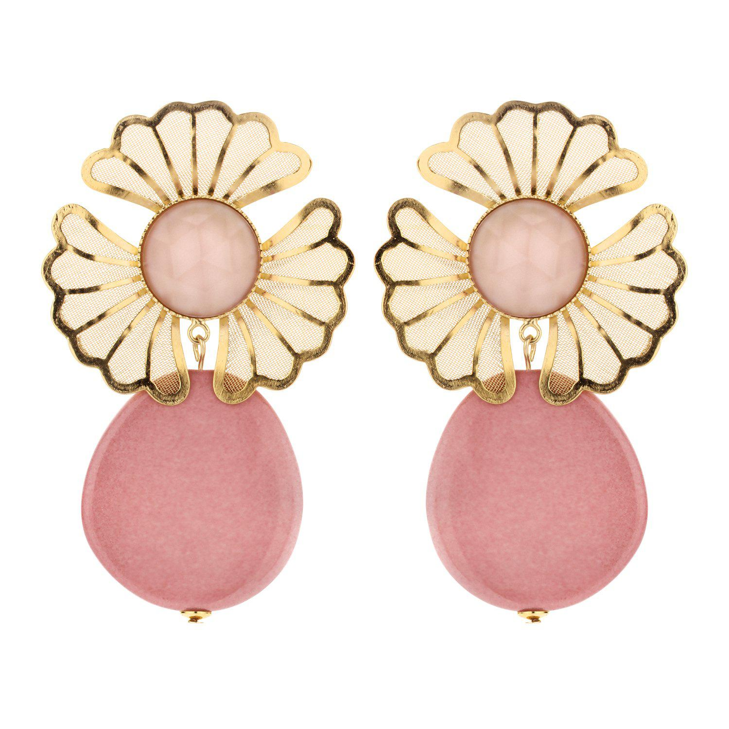 Mia statement earring nude