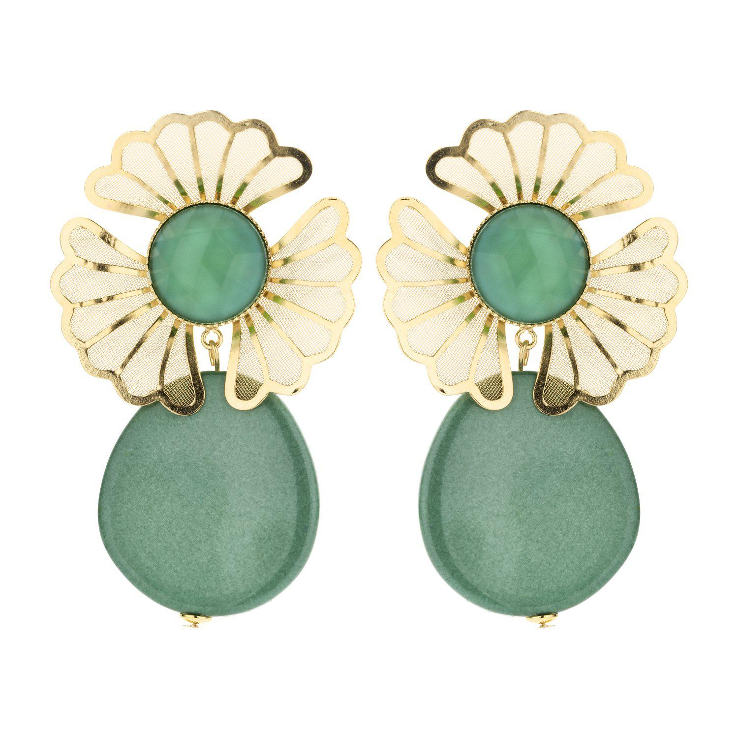 Mia statement earring mint