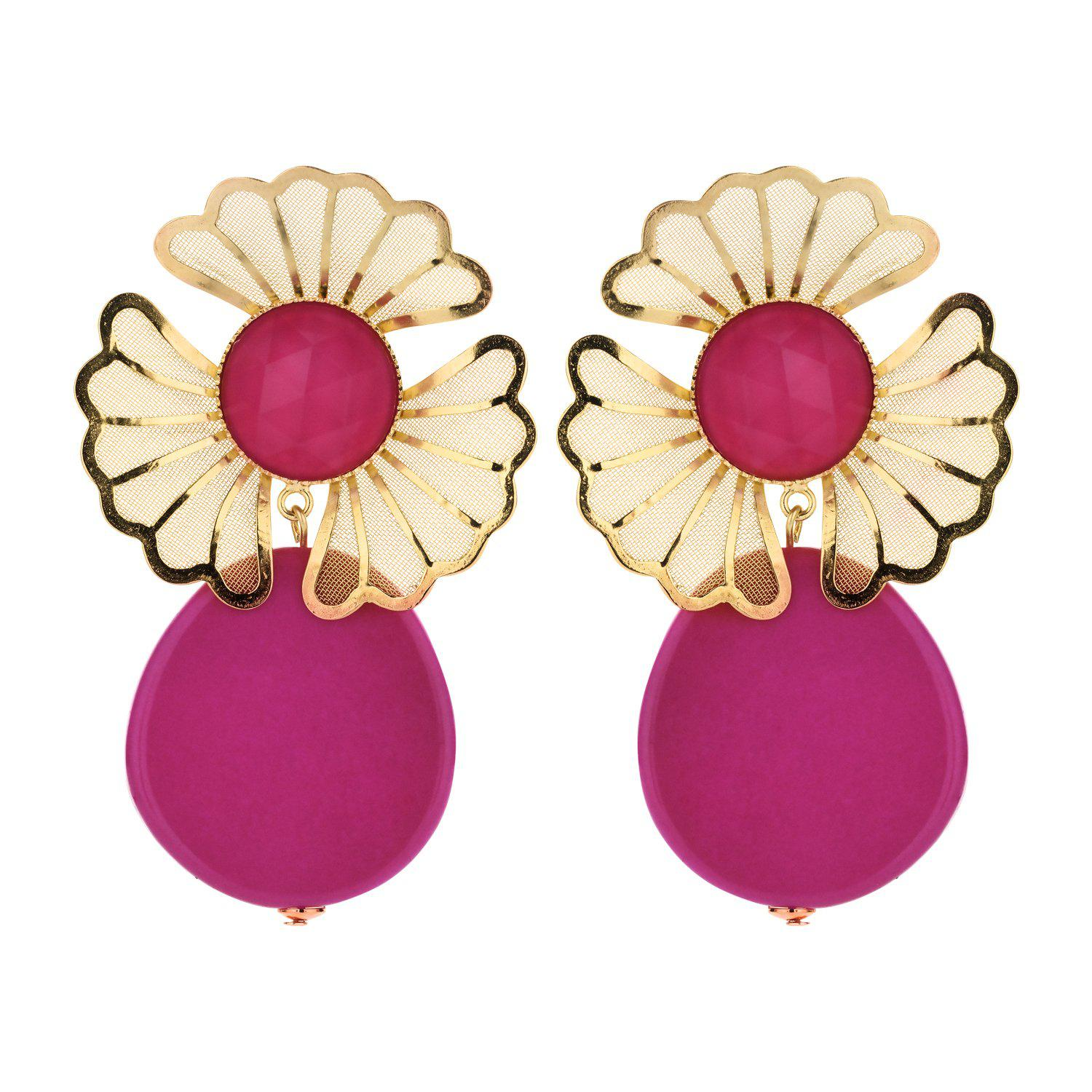 Mia statement earring fuchsia