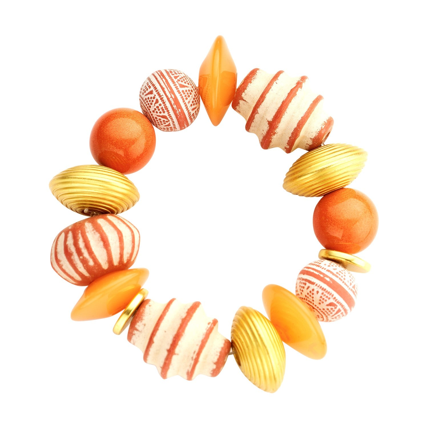 Beaded candy bracelet soft orange