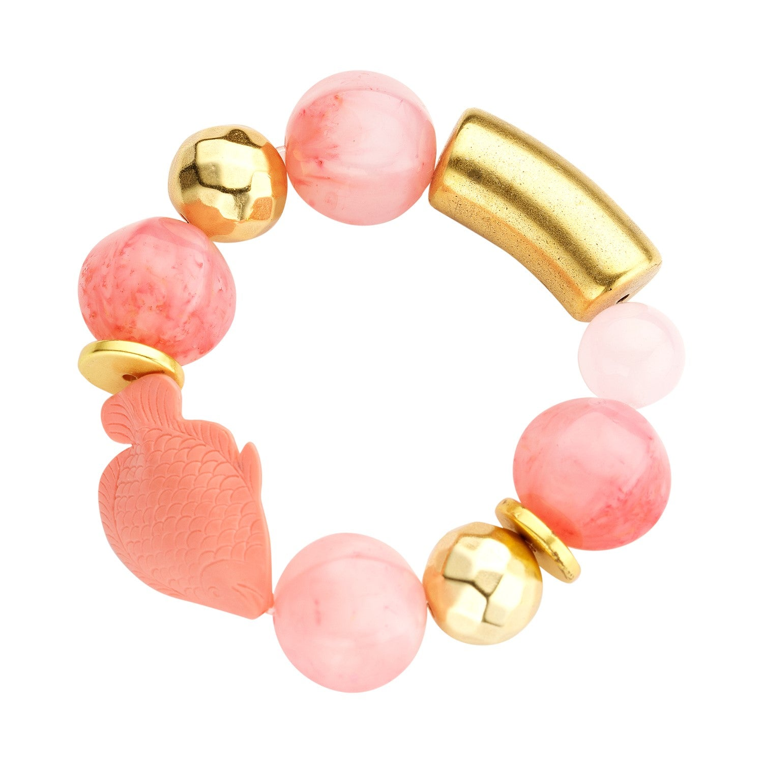 Beaded candy bracelet peach nude