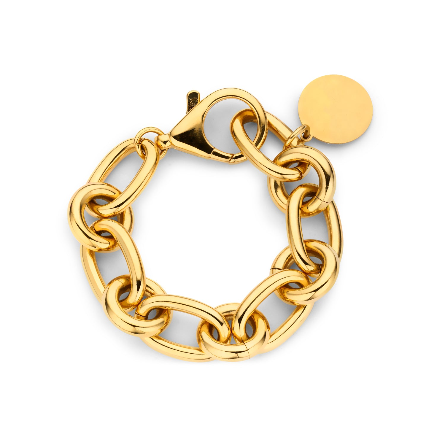 Lima medium chain bracelet gold