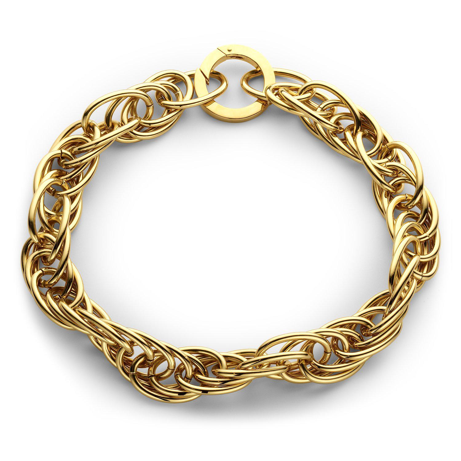Large snake statement necklace gold - Souvenirs de Pomme