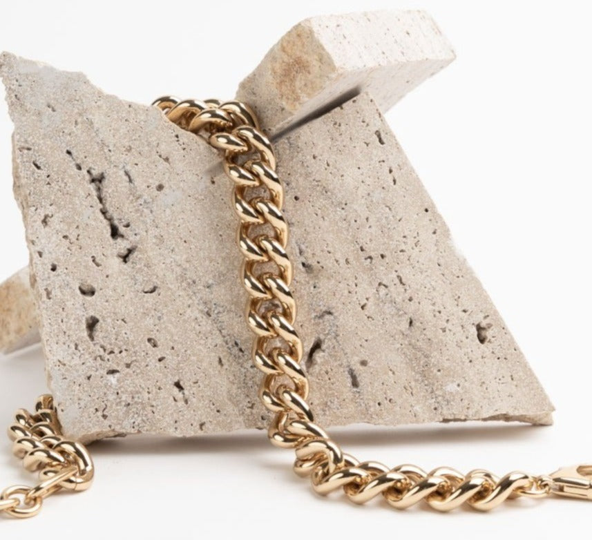 Gourmet small chain necklace gold