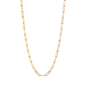Link small chain necklace gold with coin - Souvenirs de Pomme