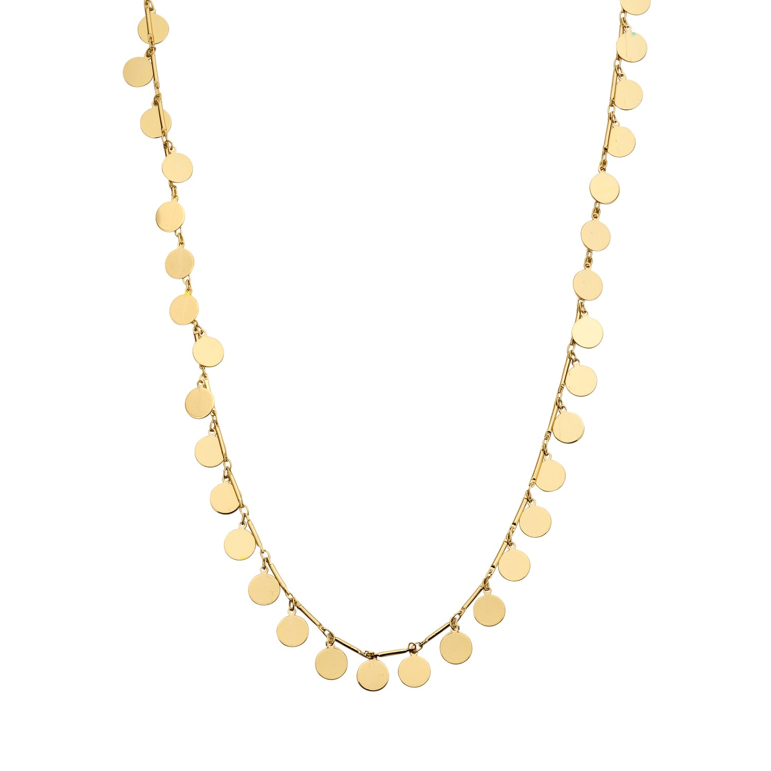 Rond fine chain gold necklace - Souvenirs de Pomme