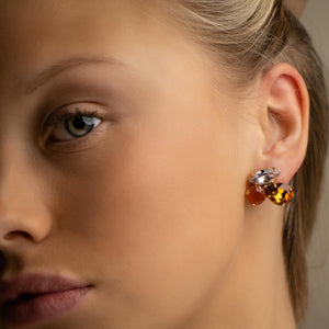 Cleo shortie rust mix earrings