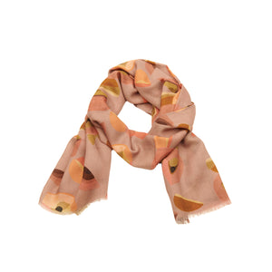 Scarf twill wool nude mix