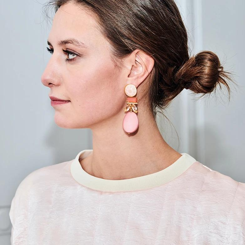 Grace nude earrings - Souvenirs de Pomme
