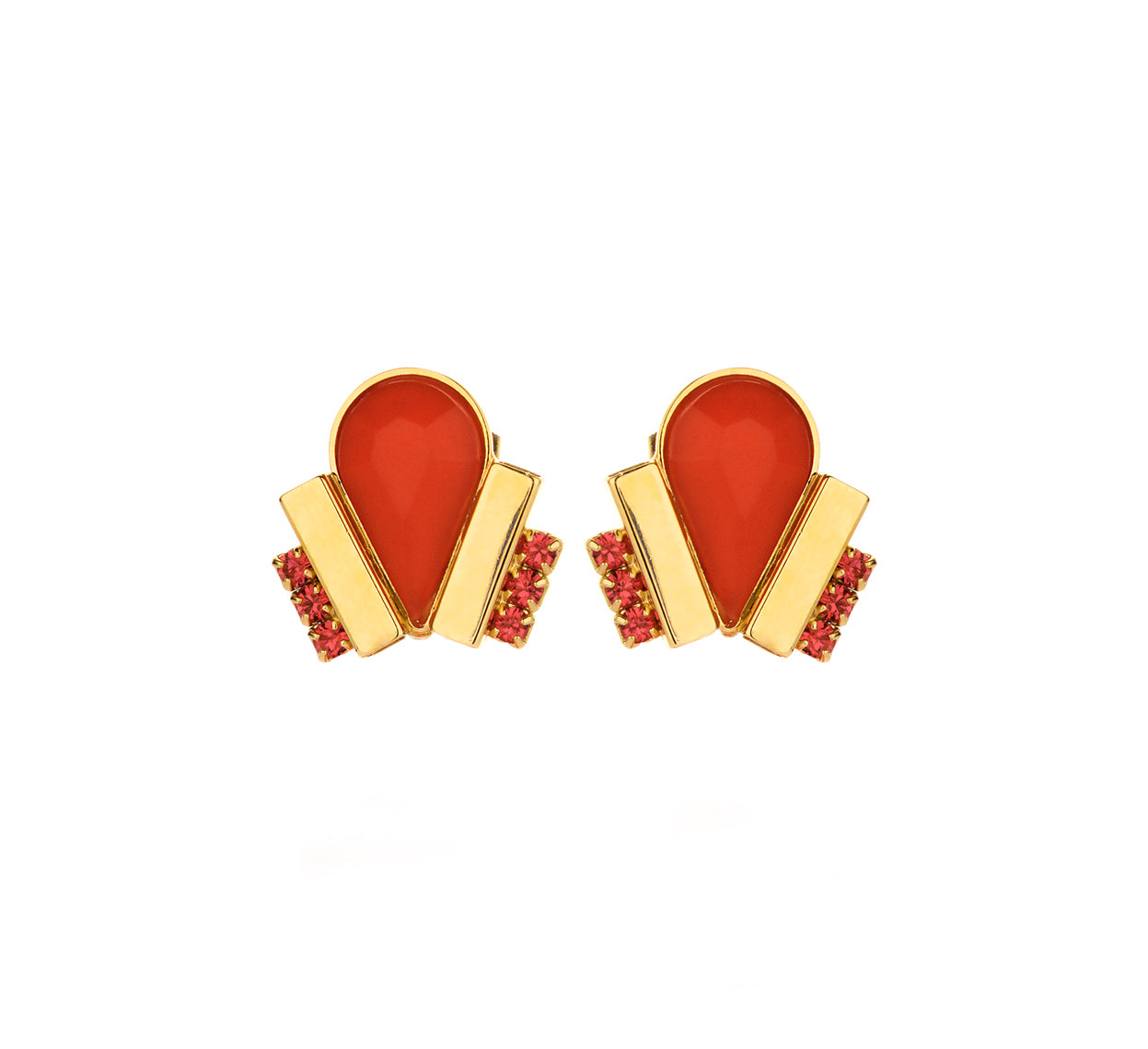 Ducre shortie earring orange