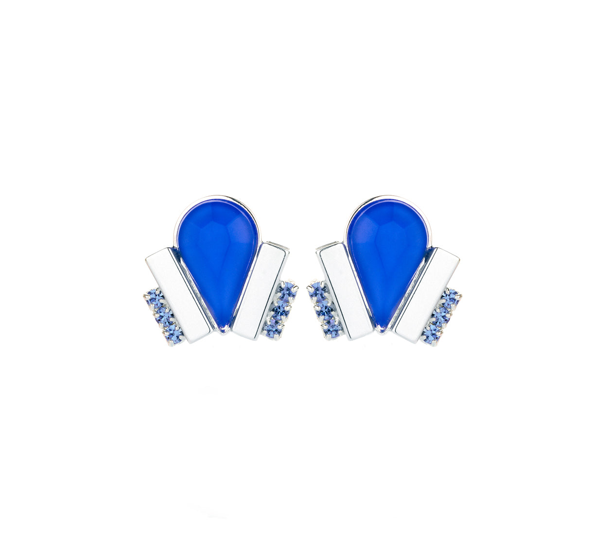 Ducre shortie earring blue