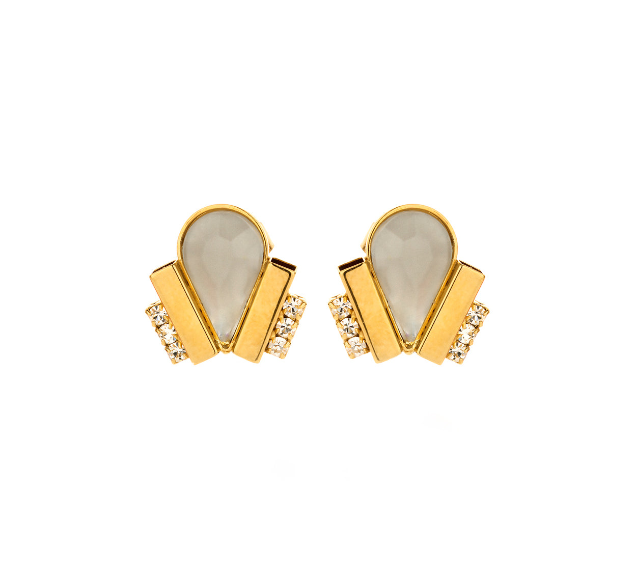 Ducre shortie earring white