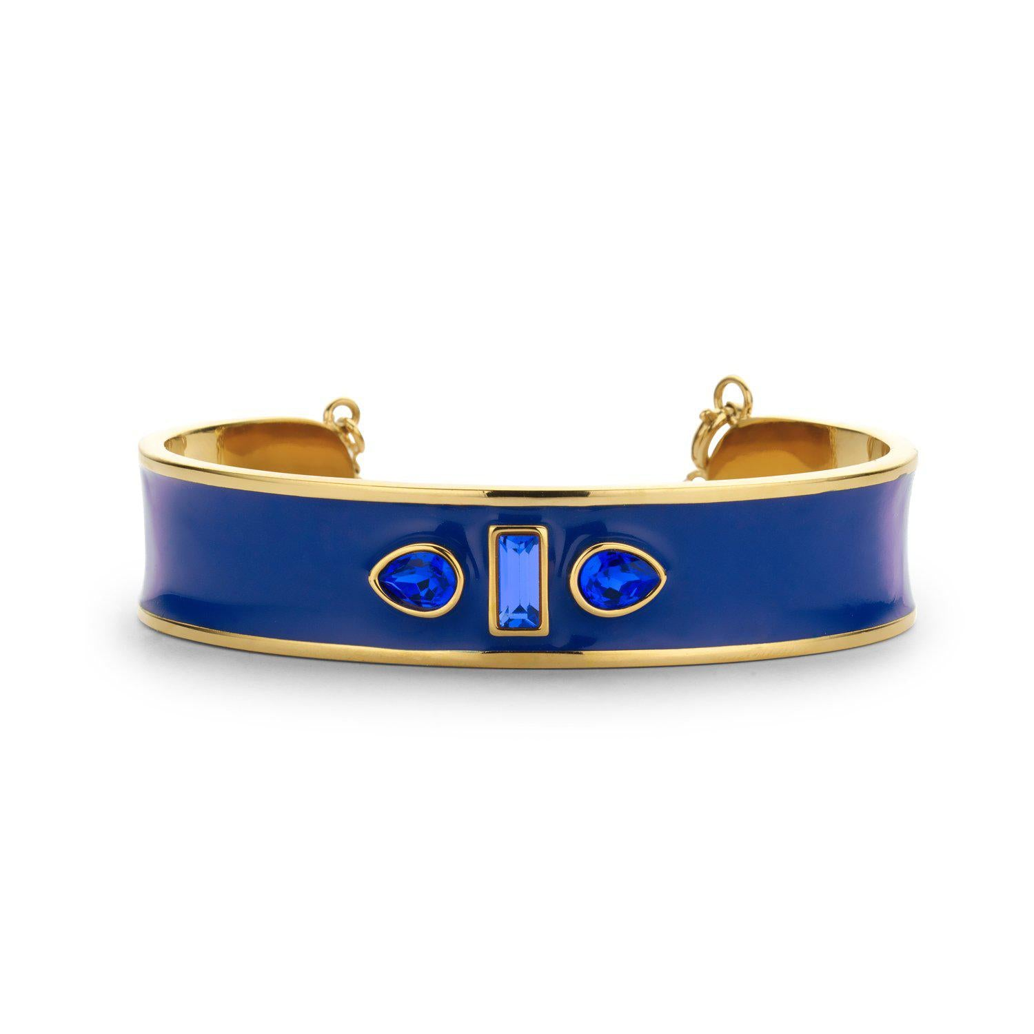 Sophia Cuff Enamel royal blue