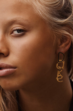 SINGLE Dare gold earring