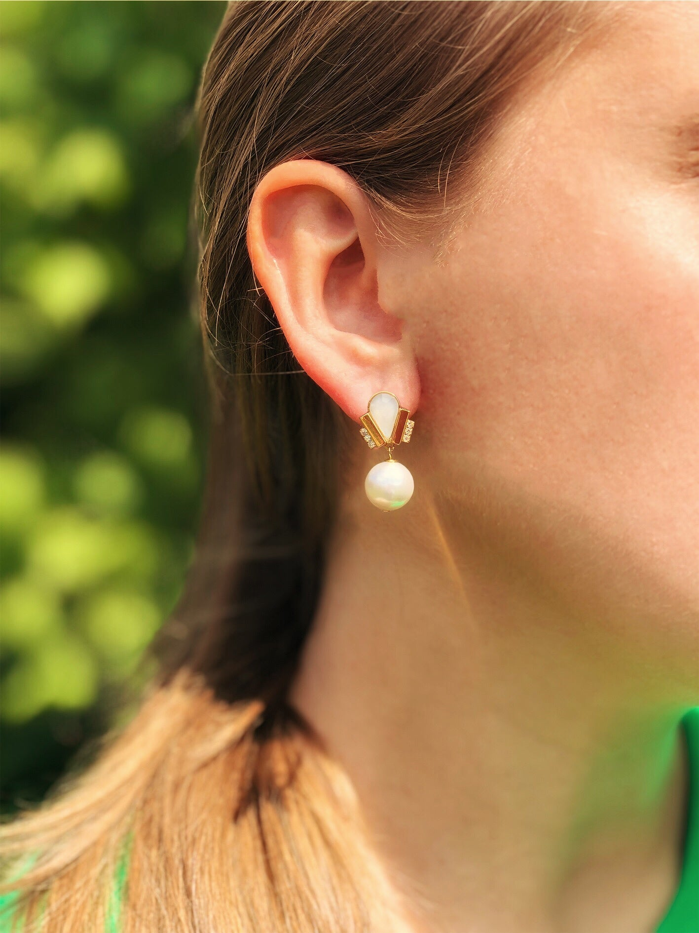 Ducre short earring white