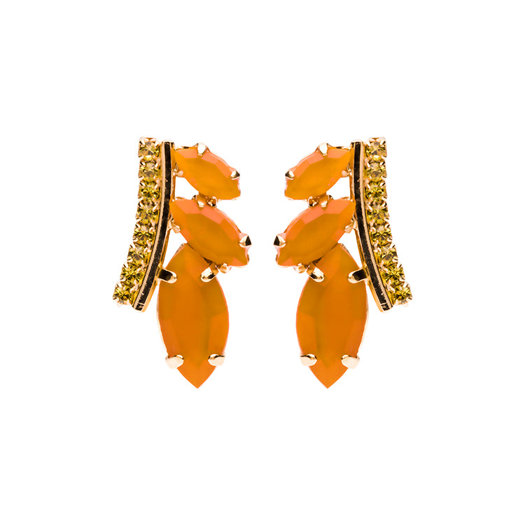Leaf shortie terracota earring