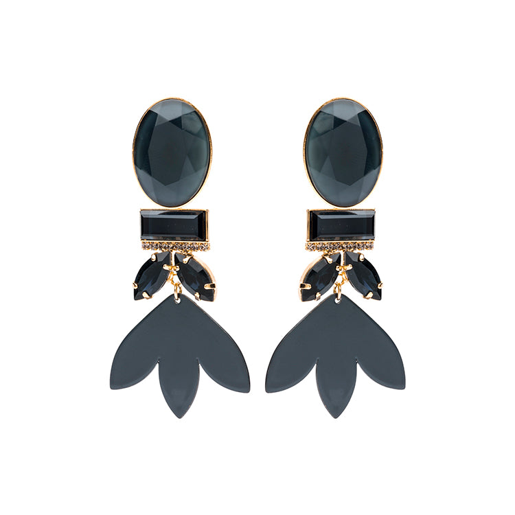 Grace statement navy earring