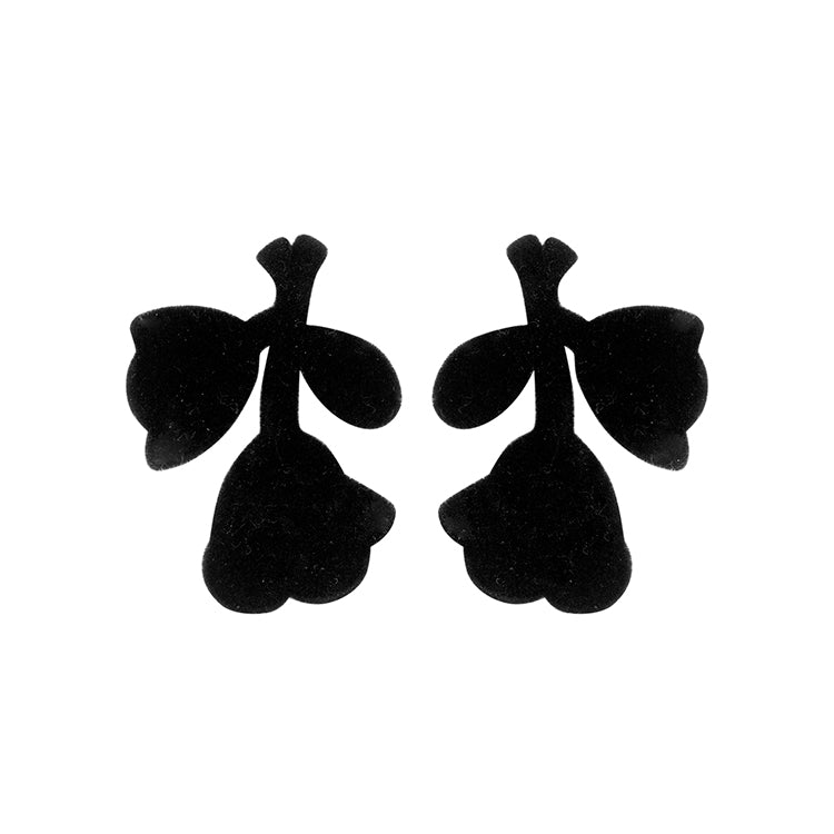 Megane statement  earrings black velvet