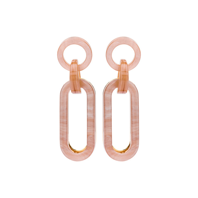 Viola long nude earring