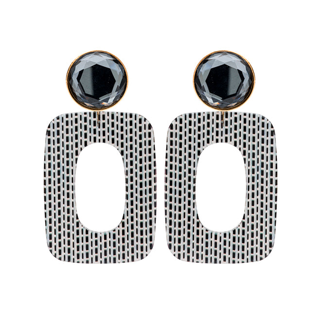 Mary large antra stripes earring