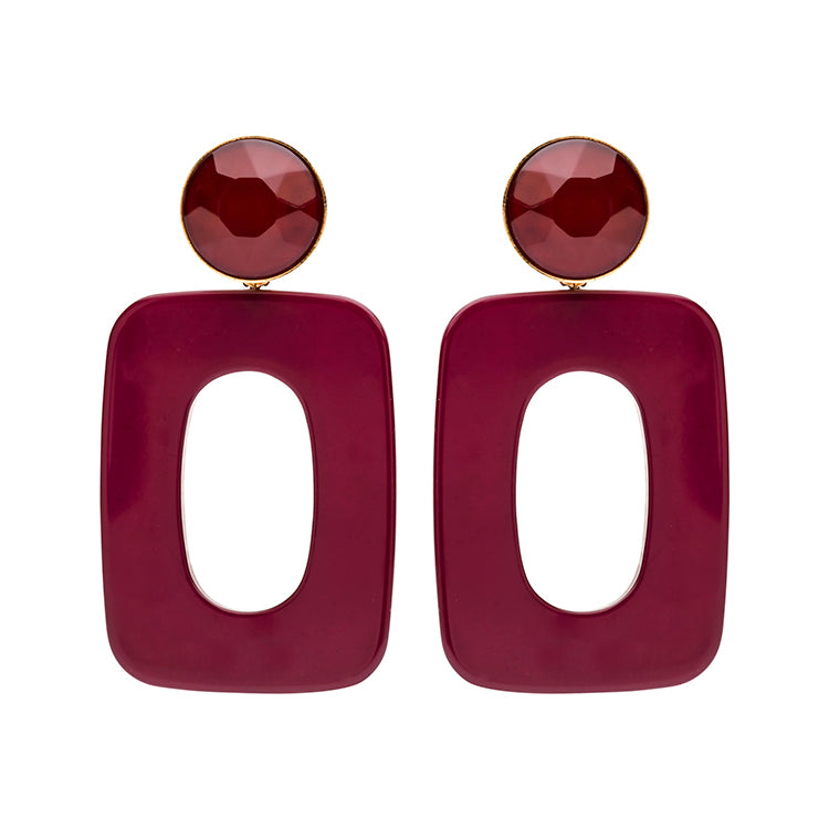 Mary large bordeaux earring