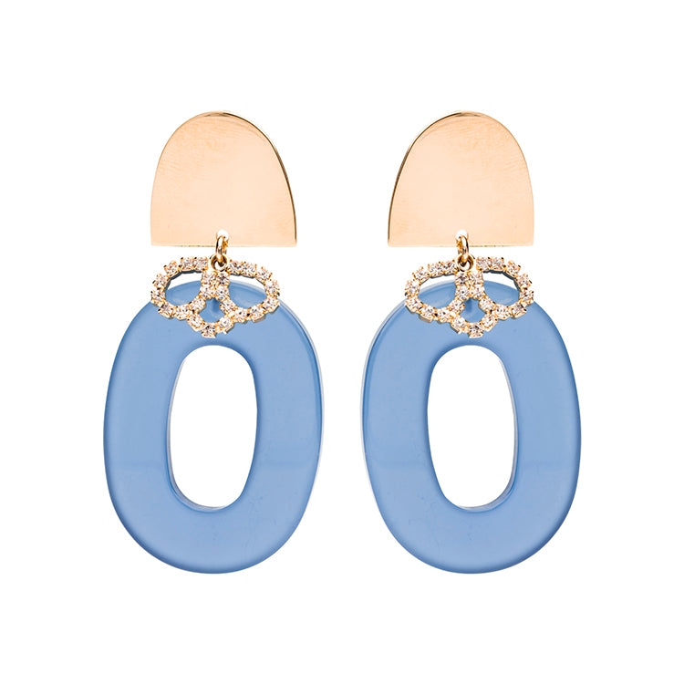 Sienna statement blue earring